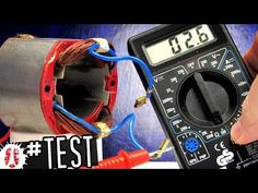 """When an electric motor is broken, one suspect is the fiel coild of the motor stator. In this video, we show different tests (balancing test, continuity """"coil. Ac Wiring, Home Electrical Wiring, Electrical Projects, Electrical Installation, Electronics Projects, Electrical Transformers, Electrical Troubleshooting, Universal Motor, Car Repair Service"""