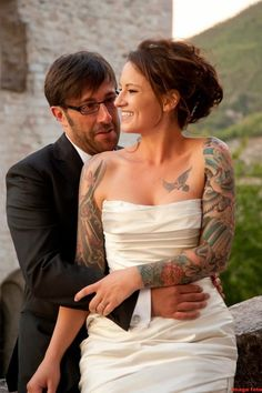 Pix For > Brides With Tattoo Sleeves