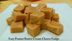 Cut the Wheat, Ditch the Sugar: Easy Peanut Butter Cream Cheese Fudge Logged in MFP 2 Nett Carbs per serve = 2 x 1 inch square Low Carb Candy, Low Carb Sweets, Low Carb Desserts, Healthier Desserts, Gluten Free Recipes, Low Carb Recipes, Cooking Recipes, Trim Healthy Momma, Low Carb Keto