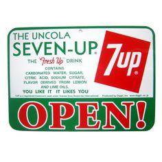 【サインプレート】7UP SIGN BOARD OPEN/CLOSED B(横)