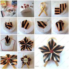 How to Make Satin Ribbon Star Brooch | iCreativeIdeas.com Follow Us on Facebook --> https://www.facebook.com/icreativeideas