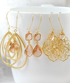 Hey, I found this really awesome Etsy listing at https://www.etsy.com/listing/158795104/limonbijoux-champagne-chandelier-earring