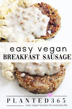 Breakfast Sausage Recipes, Brunch Recipes, Breakfast Sausages, Vegan Recipes Easy, Whole Food Recipes, Vegetarian Recipes, Bread Recipes, Vegan Meat Substitutes, Plant Based Breakfast