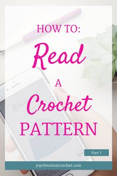 HOW TO: Read a Crochet Pattern - Part 1. Learn to read crochet patterns with Joy of Motion. 3 step guide. Crochet Guides. Free Crochet Tutorials. Free Crochet Guides. Crochet Guides Link. Crochet Tutorials. Learn To Understand Crochet Patterns. Repin this to read, learn & keep it forever. via @http://pinterest.com/joyofmotion/