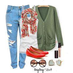 Boyfriend Jeans & Flats - Polyvore
