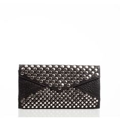 Linea Pelle Blake Studded Clutch ($225) ❤ liked on Polyvore