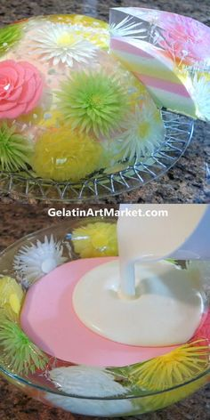 Jelly Desserts, Cute Desserts, Cake Decorating Videos, Cake Decorating Techniques, Creative Food Art, Creative Cakes, Unique Wedding Cakes, Unique Weddings, 3d Jelly Cake