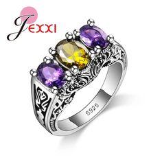 AAA+ Austrian Crystal Elegant Rings 925 Sterling Silver Ring . Starting at $1