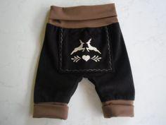 Pumphosen - Baby-Lederhose---50/56--62/68--74/80--80/86 - ein Designerstück von Evi-Herrmann bei DaWanda
