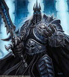 "Prince Arthas Menethil, the once noble Paladin behind the mask, has long since faded leaving only death.  The Scourge master hero from ""Icecrown"" was originally painted in oils for the World of Warcraft Trading Card Game.  Print size is approximately 11.75 x 14.75 inches.  A personalized message ..."