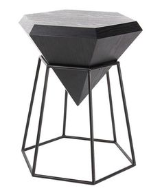 Loving this Black Diamond-Shape Geometric Side Table on #zulily! #zulilyfinds