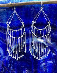 Labradorite Sterling Silver Chandelier Earrings