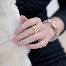 Moda Anillos conjuntos de 3 anéis Anel Kastet Punk Rose banhado a ouro Midi Mid prego Knuckle anéis Femininos para as mulheres acessórios(China (Mainland))