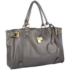 """MG Collection LUCCA Grey Glamour Padlock Shopper Hobo Handbag w/Shoulder Strap (885001434326) Decorative padlock and gold hardware. Double rolled handles. Convertible to shoulder bag with removable strap. Man made leather. Oversized interior fits all your necessities. Approx Dimensions: Exterior - 16"""" L x 11"""" H x 4"""" W; Interior - 15"""" L x 10"""" H x 3"""" W"""