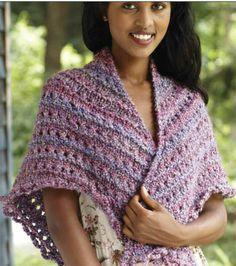 "Splendid Triangle Shawl - Free Knitted Pattern - Click On ""Download Project PDF"" To View Pattern - (joann)"