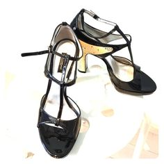 Dolce &Gabbana shoes Very rare patent leather and python open to shoes with a thick heal and double straps gorgeous for any occasion Dolce & Gabbana Shoes Heels