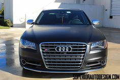2013 Audi S8 Wrapped in Matte Black