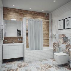 Ванная в скандинавском стиле: Ванные комнаты в . Автор – Анна Теклюк