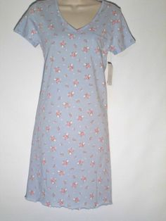 Charter Club New Gown Blue Romantic Rose Extra Small #CharterClub #Gowns