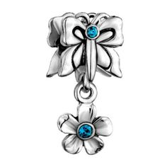 Pugster Butterfly Flower Crystal Bead Fit Pandora Chamilia Biagi Charm & Bracelet Pugster. $12.49. Measures 9mm X 14mm. Pugster are adding new designs all the time. Unthreaded European story bracelet design. Hole size is approximately 4.8 to 5mm. Fit Pandora, Biagi, and Chamilia Charm Bead Bracelets