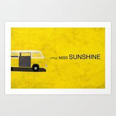 Little Miss Sunshine Minimalist Poster Art Print by JayeThompson - $14.00
