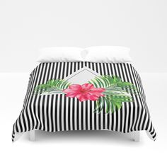 Hibiscus Duvet Cover by painting Never Leave You, Soft Duvet Covers, Twin Xl, King Queen, Outdoor Furniture, Outdoor Decor, Hand Sewn, Hibiscus