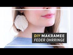 Makramee Anleitung - DIY Feder Ohrringe selber machen - YouTube Diy Earrings Video, Hand Embroidery Art, Diy Tassel, Fabric Necklace, Macrame Tutorial, Macrame Patterns, Micro Macrame, Diy Jewelry Making, Jewelry Crafts