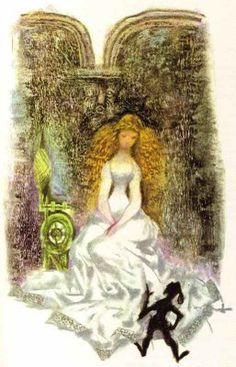 Rumpelstiltskin-Jiří Trnka from Tales of the Brothers Grimm- the illustrations in this book captivated me, as a child.