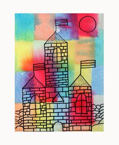KLEE CASTLES-a combo of two of my fave art lessons