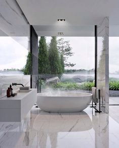 Luxury Bathroom Master Baths Dreams is unquestionably important for your home. Whether you choose the Interior Design Ideas Bathroom or Luxury Master Bathroom Ideas, you will make the best Luxury Bathroom Master Baths With Fireplace for your own life. Bad Inspiration, Bathroom Inspiration, Interior Design Inspiration, Design Ideas, Design Trends, Modern Bathroom Design, Bathroom Interior Design, Decor Interior Design, Bathroom Designs