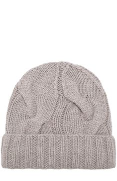 Кашемировая шапка Courchevel Loro Piana, серого цвета, арт. FAG5548 в ЦУМ | Фото №1