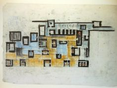 Peter Zumthor, sketch for Therme Vals. Architecture Student, Architecture Drawings, Concept Architecture, Architecture Design, Thermal Vals, Peter Eisenman, Conceptual Sketches, Model Sketch, Technical Drawing