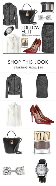 """Suit up!"" by manicurelover ❤ liked on Polyvore featuring Dolce&Gabbana, Lanvin, Gucci, Chanel, Smith & Cult and Burberry"