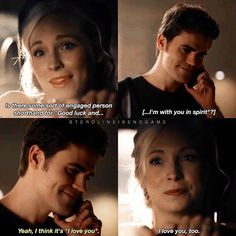 Even though this was the only time we even got to see Caroline in 8x04 I'm still very happy we got this scene. They were so happy. There's is nothing in this world I love more than seeing Caroline and Stefan happy but now every time I watch a happy steroline scene it feels so bittersweet. I hate  hate hate the writers for ruing what to me personally is the most beautiful and healthy relationship on the show. They deserved to live their lives out happy and together. The afterlife is still…