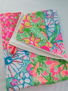 Lilly Pulitzer Baby BlanketLilly Pulitzer by SweetBabyBurpies