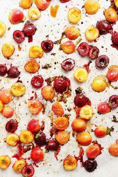 Savory Roasted Cherries   /withfoodandlove/