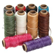 50m/roll 1mm Waxed Thread Cotton Cord String Strap Hand Stitching Thread for Leather Handicraft Tool DIY Material Accessories
