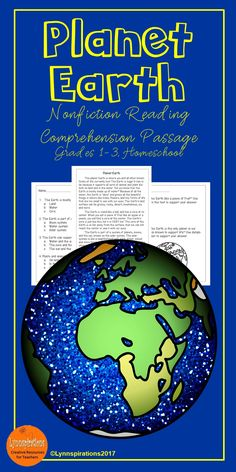 This reading comprehension activity is great for teaching the science of Planet Earth to grades 1-3. It can be used in your class to help your students with reading comprehension skills as well as with test taking skills. It is part of the Astronomy Bundle. Please take a preview peek! Included: An engaging passage with 4 multiple choice questions and 2 written responses