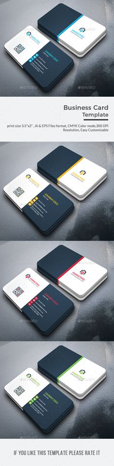 Business Card Template PSD, Vector EPS, AI Illustrator