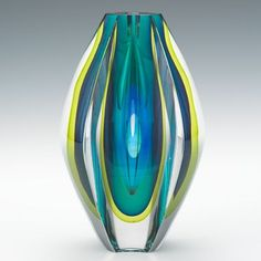 304. A Vintage Kosta Glass Vase by Mona Morales-Schildt - Featuring the Estate of Joseph T. Gorman - ASPIRE AUCTIONS