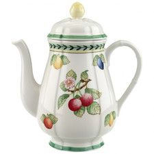 Features:  -French Garden collection.  -Material: Premium porcelain.  Capacity: -5.28 Cups.  Color: -Multi-colored.  Primary Material: -Porcelain.  Product Type: -Coffee carafes.  Pattern: -Floral. Di