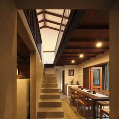 Image 3 of 18 from gallery of Nugegoda House / Chinthaka Wickramage associates. Photograph by Eresh Weerasuriya Adobe, Indian Architecture, Floor Plans, Stairs, Flooring, Gallery, Building, House, Inspiration
