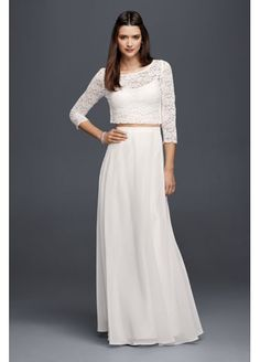 Long Chiffon Skirt. I'm keeping white skirts in mind for chrismation/future Paschas.