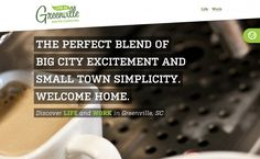 Life in Greenville featured on Very Nice Sites   Best web design 2014  Beautiful websites 2014