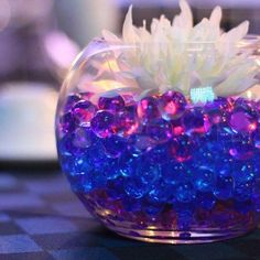 New Camping Party Favors Diy 42 Ideas Fishbowl Centerpiece, Candle Centerpieces, Wedding Table Centerpieces, Wedding Flower Arrangements, Wedding Decorations, Centerpiece Ideas, Star Decorations, Wedding Themes, Quinceanera Planning