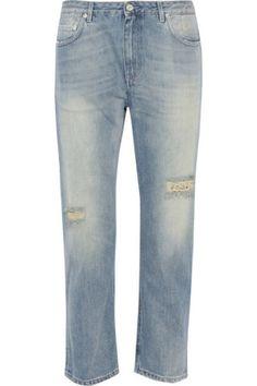 Acne Studios|Pop Trash cropped distressed boyfriend jeans|NET-A-PORTER.COM