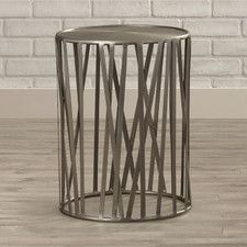 Industrial Chic Kruse Drum End Table