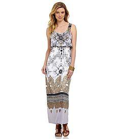 12d959d474b One World Apparel Petites ShirredWaist Maxi Dress  Dillards Casual Clothes
