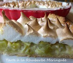 Tarte à la Rhubarbe Meringuée Looks Yummy, Recipies, Pudding, Cooking, Plaque, Minis, Simple, Quiche, Foodies