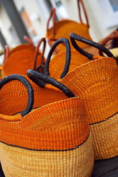 orange baskets